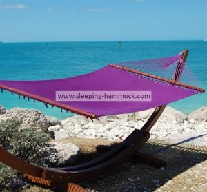 Buy cheap Purple Micro Weave Caribbean Style Hammock With Marine Varnished Luxury Lauan Hardwood Bar from Wholesalers