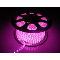 China 220V LED Flexiable Strips SMD5050 RGB multicolor Purple color IP65 high brightness factory