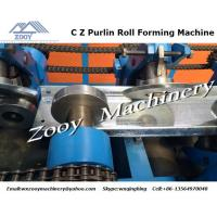 Buy cheap 7.5kw Hydraulic Roll Forming Machine For Manufacture , C Z Purlins from Wholesalers