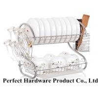 Buy cheap S Shape 2 Tier Stainless Steel Kitchen Rack Dish Rack With Draining Plate Holder PT-DR004 from Wholesalers