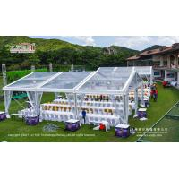Buy cheap 300sqm Aluminum Structure Transparent Wedding Party Tent With Lining Curtain from Wholesalers