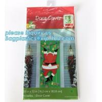 China supplier Party Accessory Happy Christmas House Decoration Door Cover door