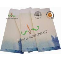 Quality Lotus / Fish Pattern Custom Printed Envelopes Special Size Kraft Coated Paper for sale