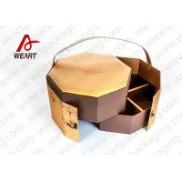 Buy cheap Golden Coated Customized Cardboard Gift Boxes With Lids CMYK Printing from Wholesalers