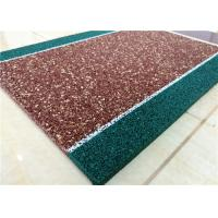 China Non Toxin Playground Rubber Flooring , Recyclable Rubber Pellets For Playground factory