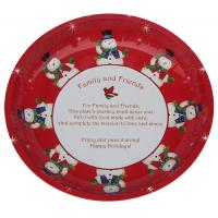 Buy cheap Christmas Round Tin Serving Trays from Wholesalers