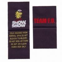 Buy cheap Woven Label, Customized Designs are Accepted from wholesalers
