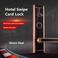 Buy cheap Stainless Steel Plate RFID Hotel Lock , High End IC Card Electronic Door Locks from Wholesalers