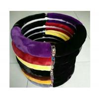 Buy cheap Winter Warm Fuzzy Car Steering Wheel Covers M Size SGS Certification from wholesalers