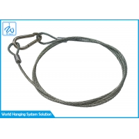 China 2mm 7*7 Steel Wire Rope Lanyard Safety Cable For Led Par Light Bulbs factory