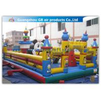 China Funny Giant Inflatable Amusement Park Happy Family Bouncy House factory