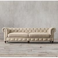 China cheap chesterfield sofa replica set velvet yellow leather cushions pu living room 3 2 1 on sale