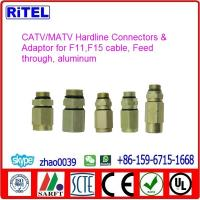 Buy cheap CATV/SATV high quality 2-piece Hardline Feedthru Connector & Adaptor for TVC,COMCAST and PPC from Wholesalers