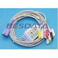 Buy cheap Disposable 5 Lead ECG Placement , ECG Lead Clips IEC / AHA Standard TP3010 from Wholesalers