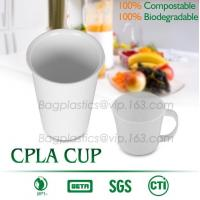 China Blister molding biodegradable durable using coffe cup, cpla cup of blister molding, corn starch tea cup factory