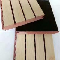 China Eco Friendly Mdf Acoustic Soundproofing Panels / Grooved Wood Panel on sale