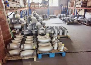 China Shot Blasting TP304 DN15  Butt Welded Pipe Elbow Press Forming factory
