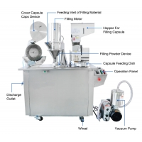 China Semi Auto Capsule Filling Machine With button plate for capsules 00 for medicine and health products factory