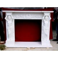 Buy cheap Elegance Stone Fireplaces Carving With Stone Lady Statue from Wholesalers