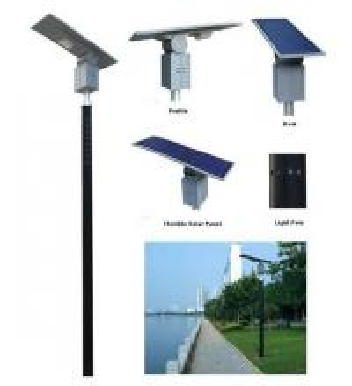 China 30W Amorphous Flexible Solar LED Spot Light factory