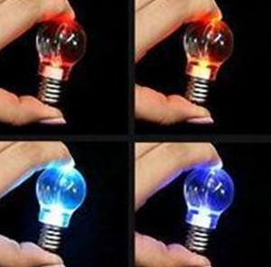 China promotional led light bulb key chain led keyring Bulb shape led light bulb key chain factory