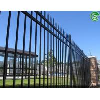 China cheap black powder coated used wrought iron fence panels for sale on sale