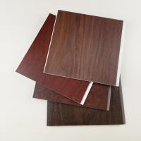 Buy cheap Dark Wooden Color PVC Wall Panels , Pvc Wall Cladding For Hotel Or Home from wholesalers