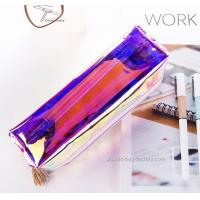 Buy cheap Fashion Waterproof Hologram Color Cosmetic Plastic Bag Holographic PVC Zip Cosmetic Organizer Bag from Wholesalers