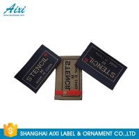 China Clothes Brand Woven Clothing Label Tags , Customized Garment Private Lable factory