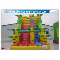 China Spongebob Big Kid Inflatable Water Slides For Parties , Blow Up Outdoor Water Slides factory