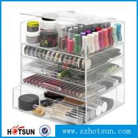 China NEW! DELUXE MAKEUP ORGANIZER - ACRYLIC 5 TIER DRAWER COSMETIC DISPLAY CASE factory