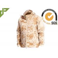 Buy cheap Windproof Desert Tactical Softshell Jacket , Military Style Coat For Outdoor Sports from Wholesalers