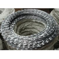 Buy cheap BTO-22 Security Concertina Razor Barbed Wire Galvanized Surface 0.5mm Thickness from wholesalers