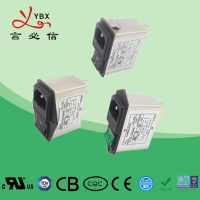 China Dual Fuse 220V 10A IEC Inlet Plug In Ac Line Filter For Audio Equipment factory