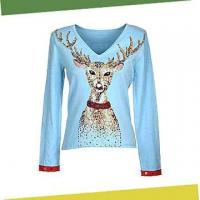 Buy cheap Women's Sweater, Front with Beading, Made of 80% Viscose and 20% Nylon from Wholesalers