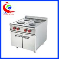 China 900 series Cooking Equipment Stainless Steel Industrial 4 Burner Electric Cooker with Cabinet factory