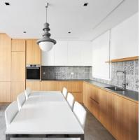 Buy cheap Simple Painted Complete Kitchen Cabinet Set Acrylic / Quartz Benchtop Material from Wholesalers