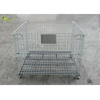 Buy cheap Industrial Transport Metal Shelves Collapsible Storage Cabinet Mesh Turnover Box from wholesalers