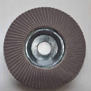 Plastic backing falp disc for metal