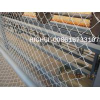 China 3m Width Single Wire Feeding Fully Automatic Chain Link Fence Machine factory