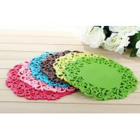China promotional gift cup mat cheap cup pvc mat pad table protector heat resistant silicone mat factory