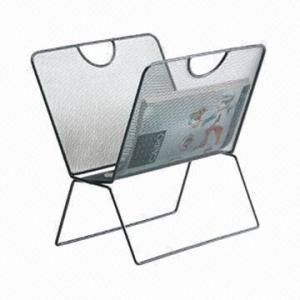 China Paper magazine holder, made of metal mesh factory