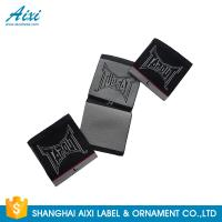 China Black Color Personalized Custom Fabric Labels For Clothes , Logo Design factory