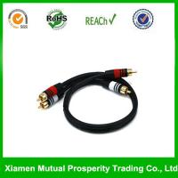 China DC3.5M Carries Composite Video and Stereo Audio signals Cable Rca on sale