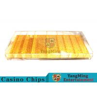 Buy cheap Mixing Gold Luxury Casino Chip Tray Yellow Color For Gambling Porker Chip Games from Wholesalers