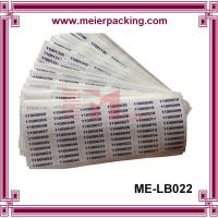 Buy cheap Removeable Label Sticker/Custom Vinyl Numbered Sticker/Destructible Sequential Numbers Label  ME-LB022 from wholesalers