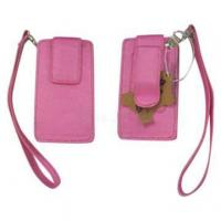 China Nylon fabric mobile bag with carabiner can be printing any logo or design factory