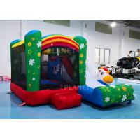 China Family Mini Inflatable Bounce House For Backyard Rainbow Color factory