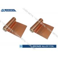 Buy cheap ISO Standard Phosphor Bronze Foil / Alloy Foils with protective Surface coatings from Wholesalers