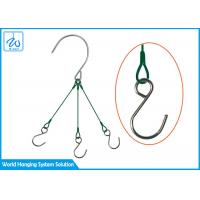 China Surface PVC Wire Rope Suspension Systems , Hook Steel Cable Hanging System factory
